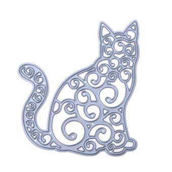Old Cat DIY Metal Stencil Scrapbook Embroidery Craft Cutting Die - intl