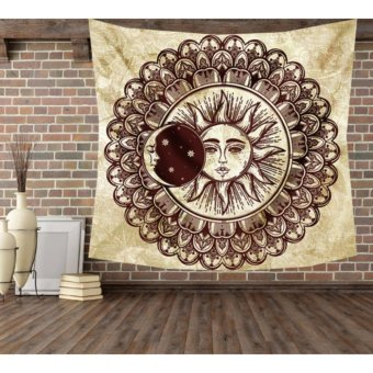 Harga Polyester Printed Wall Tapestry 145x145cm (Moon) - intl