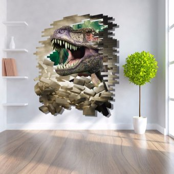 REMOVABLE 3D CRACK DINOSAURS ART WALL STICKER DECOR DECAL HOME ROOM DLY KIDS