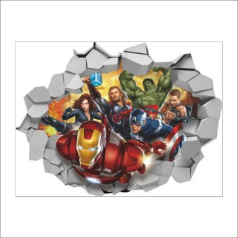 Removable 3D The Avengers Art Wall Sticker Decal Mural Home Room Decoration - intl