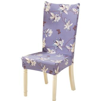 Removable Conjoined Stretchy Floral Home Stool Chair Seat Cover (1#) - intl