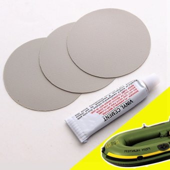 Rubber Boat Raft Inflatable Mattress Airbed Durable PVC Repair Patch + Glue - intl