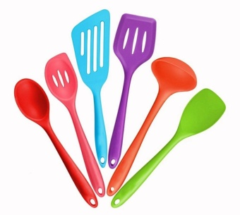 SOOTT 6pcs Kitchen Utensils Non-Stick Cookware Silicone Cooking -intl