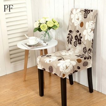 Stretch Elastic Dining Room Wedding Banquet Chair Cover Washable Seat Slipcover Pollen Family - intl
