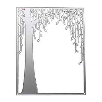 Tree Frame Metal Stencil Scrapbook Craft Embroidery Cutting Die - intl