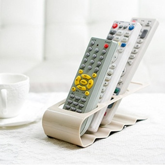 TV/DVD/VCR Step Remote Control Cradle Mobile Phone Holder Stand Storage WH -