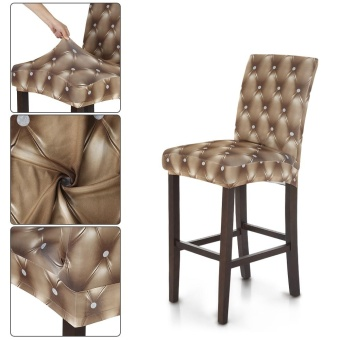 Wedding Banquet Decorations Removable Washable Dining Chair Cover Elastic Spandex Chair Cover 3D Printing Home Ceremony Chair Seat Covers Events Supplies Party Decoration - intl