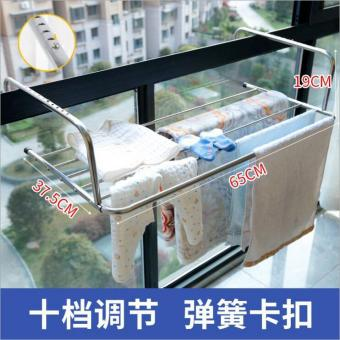 Windows Stainless Steel Window balcony air dry rack drying shoes rack