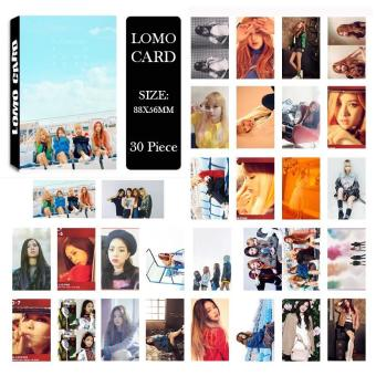Youpop KPOP BLACKPINK LISA ROSE Album LOMO Cards K-POP New Fashion Self Made Paper