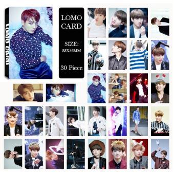 Youpop KPOP BTS Bangtan Boys WINGS JUNGKOOK Photo Album LOMO Cards Self Made Paper Card HD