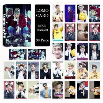 Youpop KPOP BTS Bangtan Boys WINGS Rap Monster Photo Album LOMO Cards Self Made Paper Card