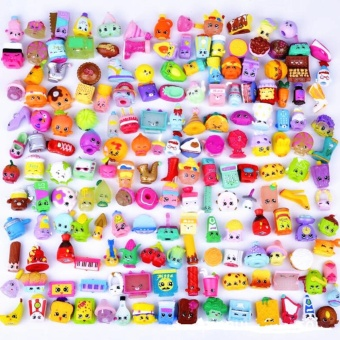 100pcs Plastic Small Toys of Fruit Family Cap of Pen Toy Cute Role Play Doll Toys - intl