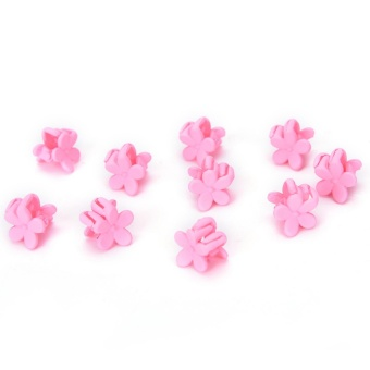 10PCS Hairpin Small Flowers Gripper Children Hair Clip Bangs Hair Accessories Pink - intl