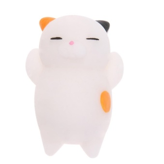 1pc Squishy Cat Pattern Cute Mini Squeeze Stretchy Animal Stress Relief Toy(Multicolor) - intl
