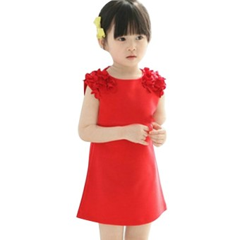 2017 Summer Vest Girl Dress Kids Baby Girl Princess Dress 2-7 Years Girls Clothing Children Casual Clothes Vestido Da Menina - intl