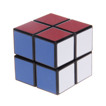 2x2x2 Ultra-smooth Two-layer Speed Magic Puzzle Rubik's Cube Toy -Multicolored