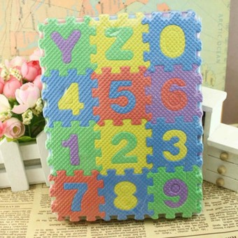 36pcs Small Size Puzzle Baby Educational Toy Alphabet Letters Numeral Foam Mat - intl