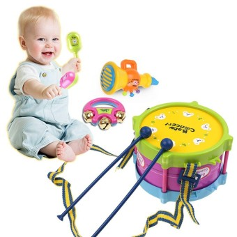 5Pcs/Set Baby Boy Girl Drum Musical Instruments Drum Set Children Toys UK - intl