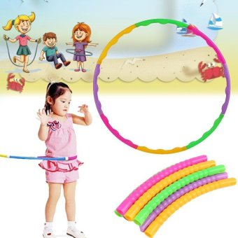 65cm Plastic Colourful Kids Hula Hoop Child Sports AerobicsAdjustable - intl