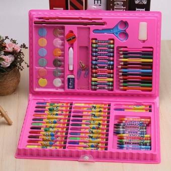 86 pcs in 1 kids 12 Colors Marker Watercolor Pen Packet Set Children Painting Crayon Pencil