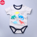Baby cartoon cotton Heather grey infants crawling clothes romper
