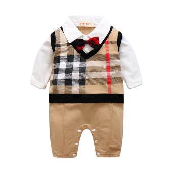 Harga Baby male under the Age of summer one-year-old dress gentlemancotton romper