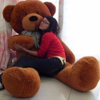 Chengyu Dark Brown Stuffed Toys Animal Cute Teddy Bear Plush Soft Toy Birthday Present 80CM - intl