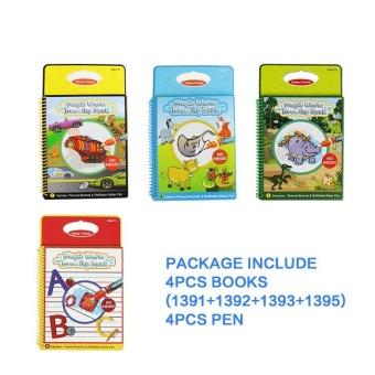 Coolplay 4PCS Set Coloring Book Kids Animals Painting Magic Water Drawing