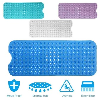 Extra Large Bath Tub Mat Anti Slip Long Non Skid Protection Safety Shower  Pad   Intl