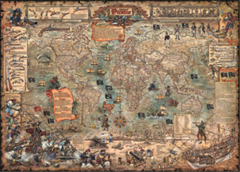 Heye pirate piece map puzzle