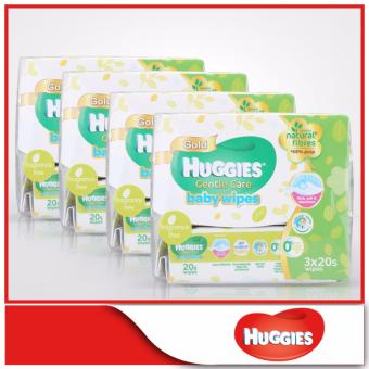 Huggies Baby Wipes Gentle Care 20s x 3 x 4 packs