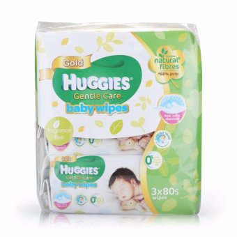 Huggies Baby Wipes Gentle Care 80s x 3 x 4 packs