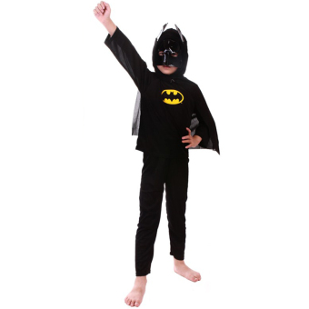 Batman Costume Halloween Costumes for Kids Superhero Capes Anime Cosplay Carnival Costume for Boys