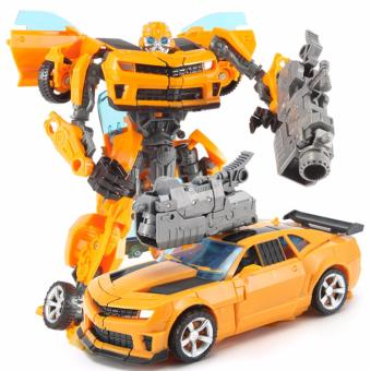 Harga Transformers Bumblebee Robots Deform Car Action Figures Kids Toy Gift - intl
