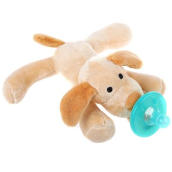 Harga Cute Infant Animal Silicone Wubbanub Cuddly Soft Plush Toy - intl