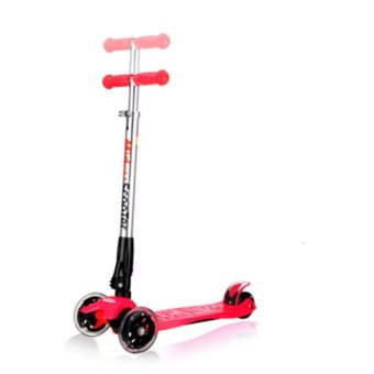 Harga CMAX Foldable Kids Scooter with Flashing LED Wheels (Red)
