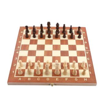 Portable Wooden Chessboard Chess Set Folding Board Chess Game - intl
