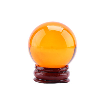 Harga 40MM+Stand Natural Black Obsidian Sphere Large Crystal Ball Healing Stone(amber)