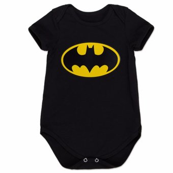 Harga Hequ Baby Boy Girl One-Piece Suit Short Sleeve Cartoon Superman Batman Style Super Hero Romper - intl
