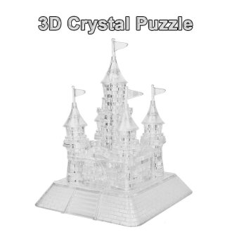 Harga Coolplay 3D Crystal Puzzle Castle Shaped Model Kids Toy DIY Building Block - intl