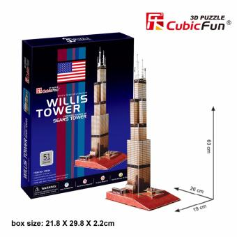 Harga LOCAL SG SELLER CubicFun 3D Puzzle Willis Tower