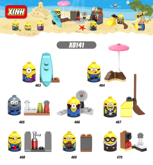 Harga XINHXin Wang building blocks X0141 small yellow people thief milk Dad 3 movie around the third party people Aberdeen assembled toys