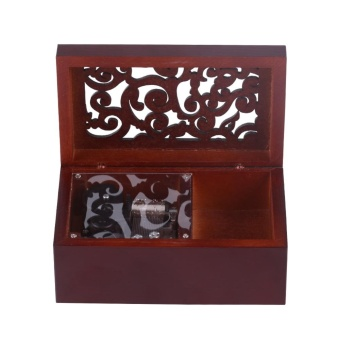 Harga Solid Wood Miniature 18 Note Wind Up Music Box Jewelry Case (Silver Movement/For Alice) - intl