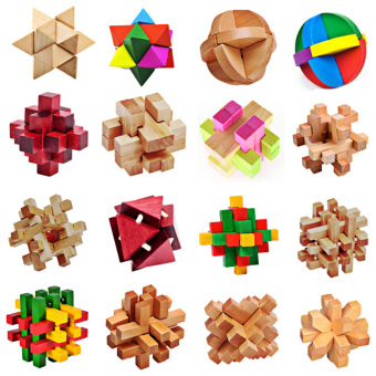 Harga 3D Wooden Puzzles Traditional Intellectual Toy