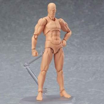 Male/Female PVC Action Figma Figure Model Body Toy For Cartoon Painting Drawing - intl