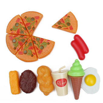 Harga Kids Plastic Pizza Cola Ice Cream Food Kitchen Role Play Toy - intl