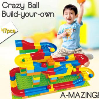 Crazy Happy Ball Building Blocks with Slide (Educational Toy) 72pcs