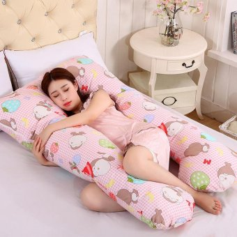 Harga Baby lily Pregnancy Maternity U Shaped Strawberry Animal Pink Lovely Body Soft Women Sleep Pillow - intl