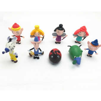 Harga 8pcs/lot Ben and Holly's Little Kingdom Anime Figures Anime Cartoon Toys The Latest Gift Ben and Holly Little Kingdom