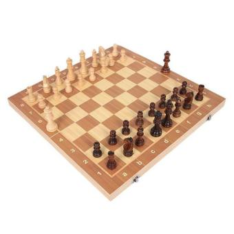 Portable Travel Magnetic Wooden Board Tournament Chess Set Pieces for Kids New - intl